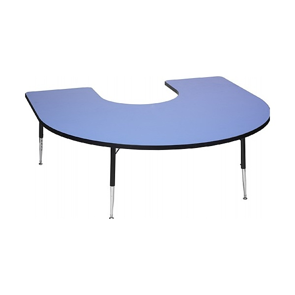 Adjustable Height Horseshoe Top Table