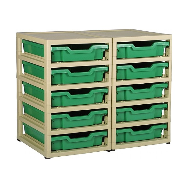 Gratstack 2 Column Unit With 10 Shallow Trays