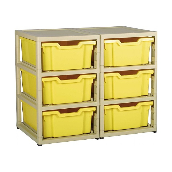 Gratstack 2 Column Unit With 6 Deep Trays