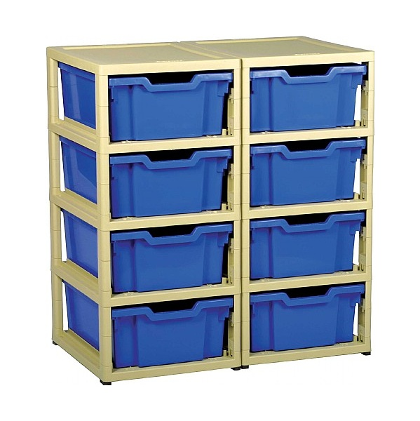 Gratstack 2 Column Unit With 8 Deep Trays
