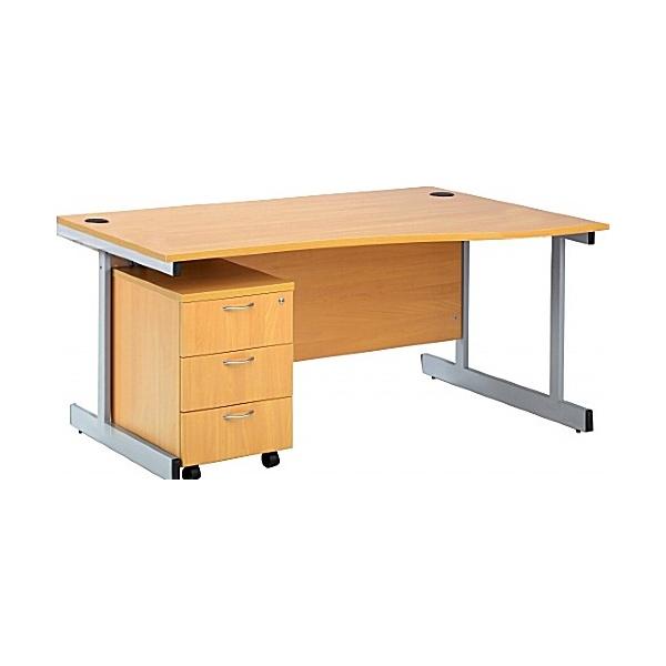 NEXT DAY Elements Wave Desk and Pedestal