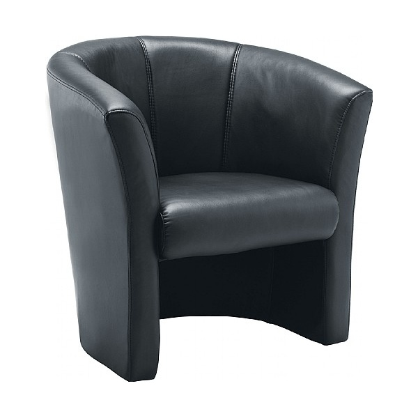Renoir Leather Look Tub Chair