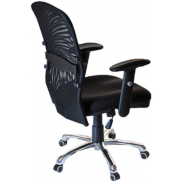 Cologne Chrome Mesh Manager Chair
