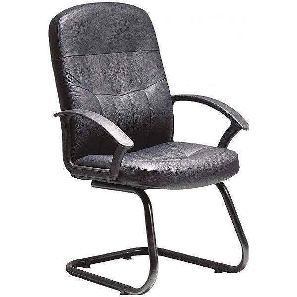 Melrose Leather Faced Visitor Chair