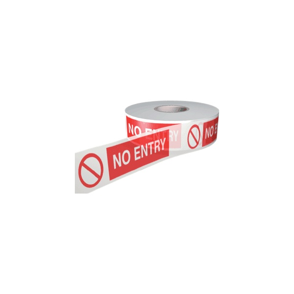 No Entry Barrier Tape