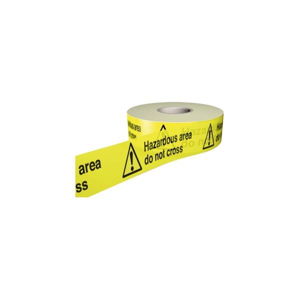 Hazardous Area Do Not Cross Barrier Tape