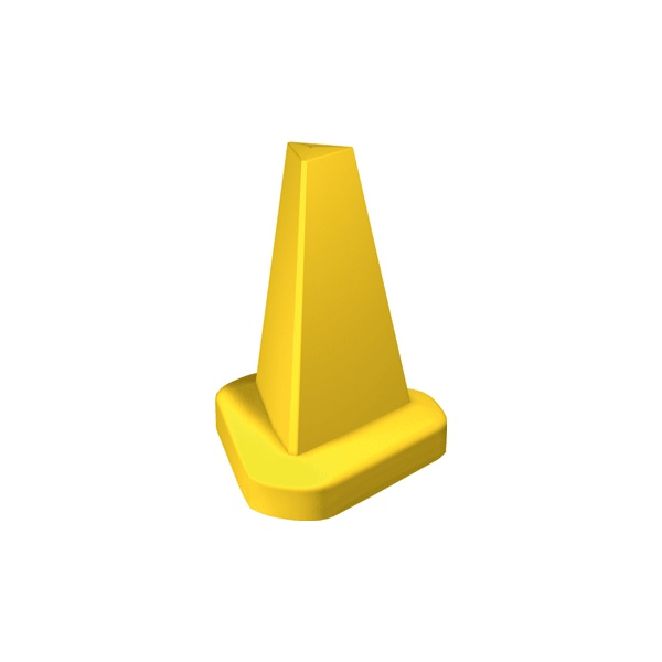 Yellow Cones - Plain or With Your Own Text!