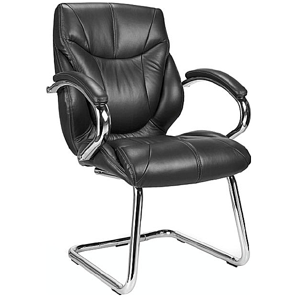 Geneva Leather Faced Visitor Chair