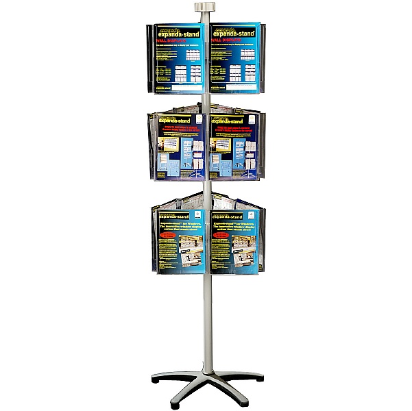Freestanding Literature Carousel 18 x A4 Pockets