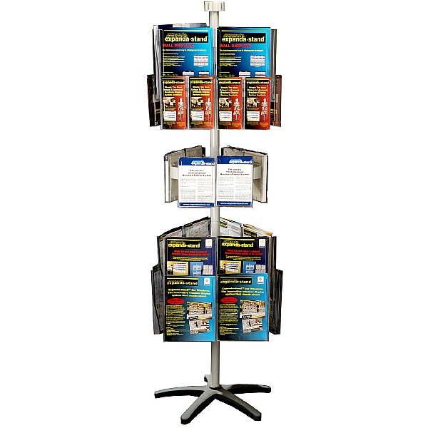 Freestanding Literature Carousel 18 x A4 + 6 x A5 and 12 x Third A4 Pockets