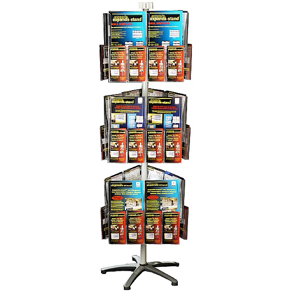 Freestanding Literature Carousel 18 x A4 and 36 x Third A4 Pockets