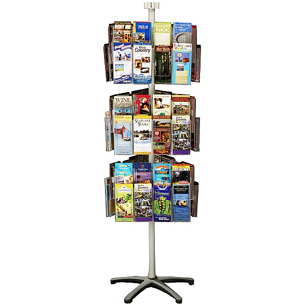 Freestanding Literature Carousel 72 x Third A4 Pockets