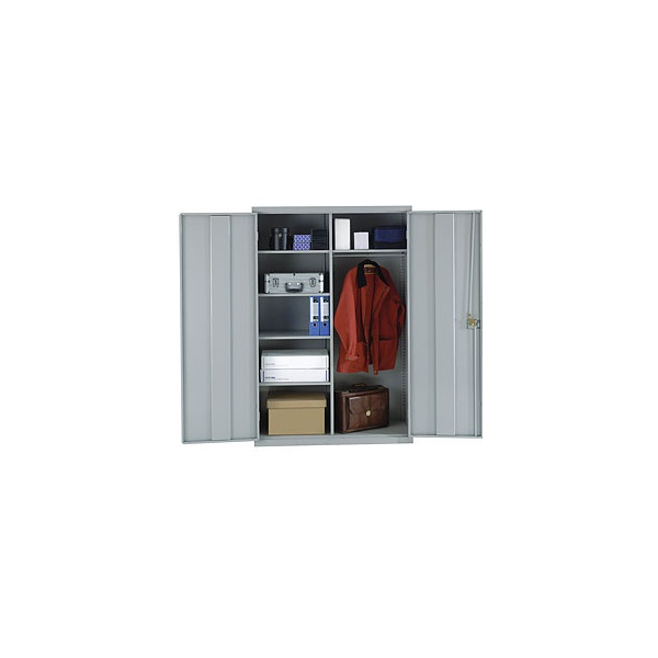 Shelved Wardrobe With Biocote