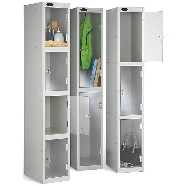 Clear Door Lockers With Active Coat