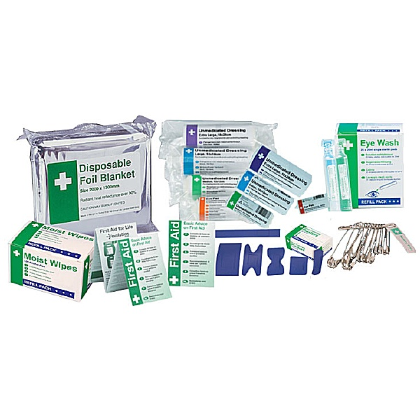 Individual First Aid Kit Refill Items