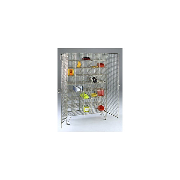 Multi Compartment Wire Mesh Lockers