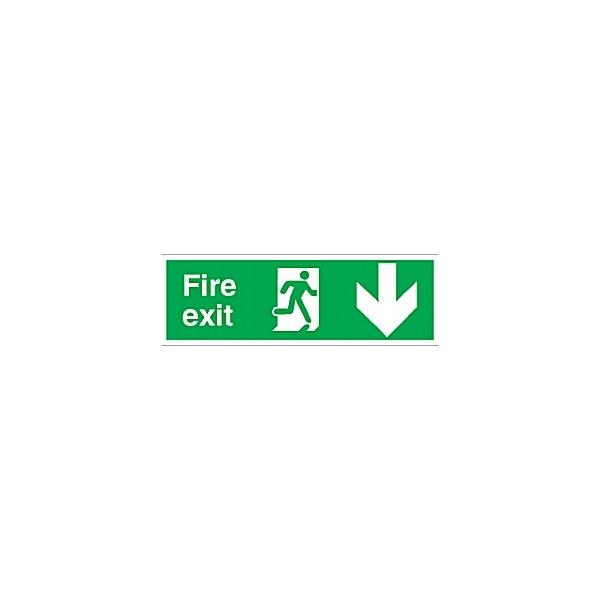 Fire Exit Down Arrow