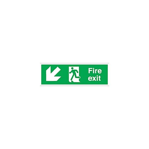 Fire Exit Down Left Diagonal Arrow
