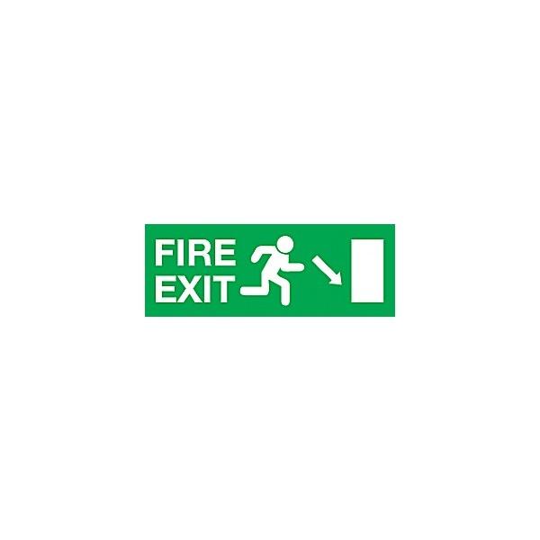 Fire Exit Diagonal Right Arrow