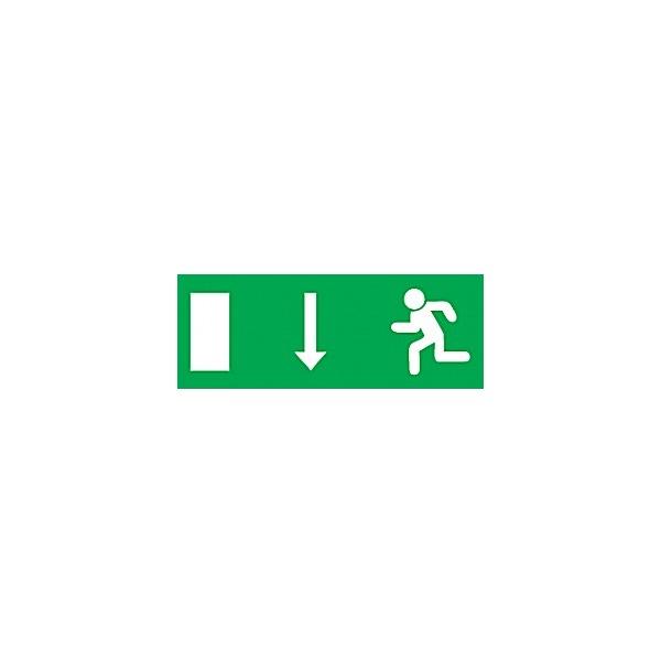 Fire Exit Down Arrow Running Left