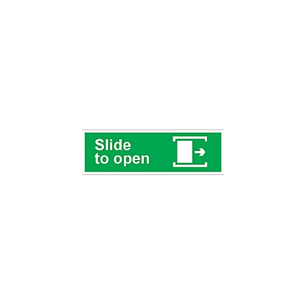 Slide To Open (Right) Sign