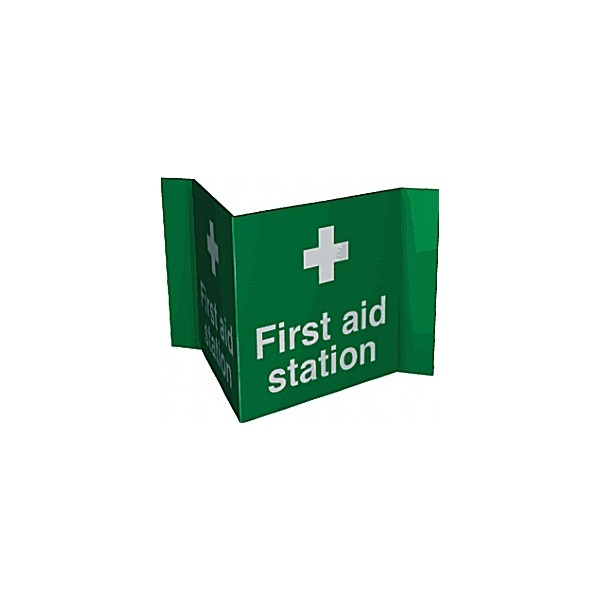 First Aid Station Projection Sign