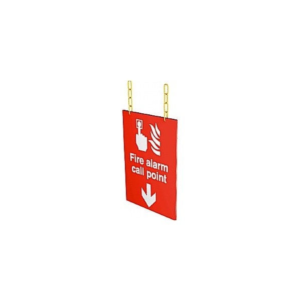 Doubled Sided Hanging Fire Alarm Call Point Sign