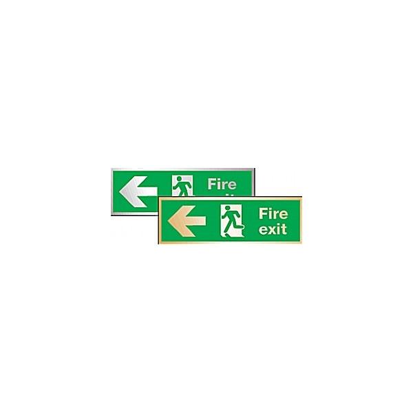 Fire Exit Left Arrow Sign