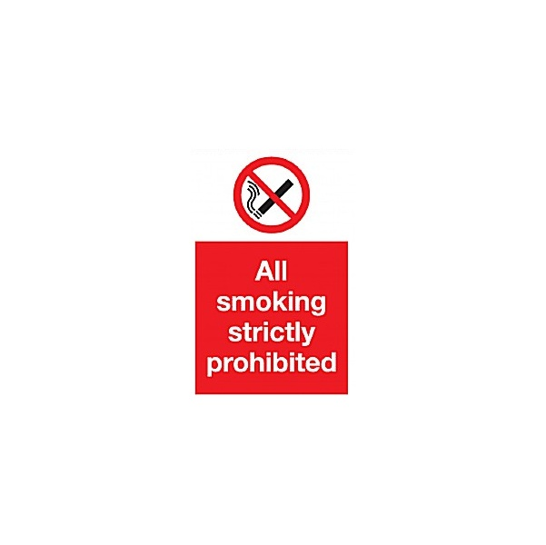 All Smoking Strictly Prohibited Sign