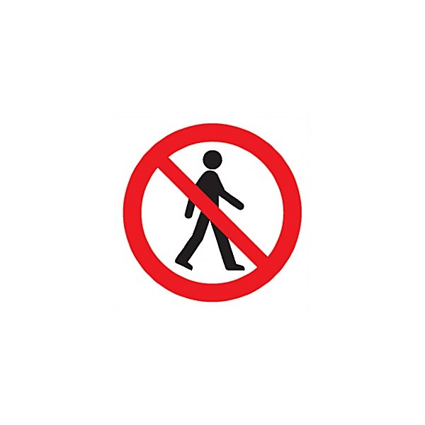 No Admittance Symbol Sign