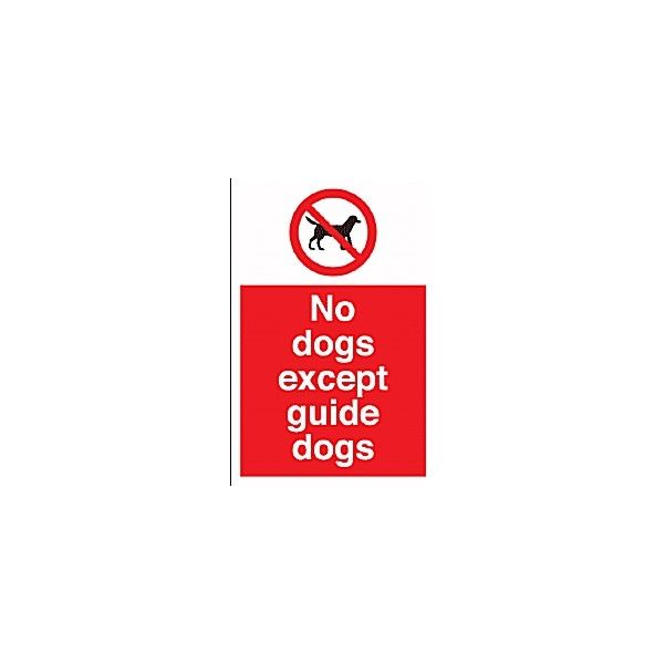 No Dogs Except Guide Dogs Sign