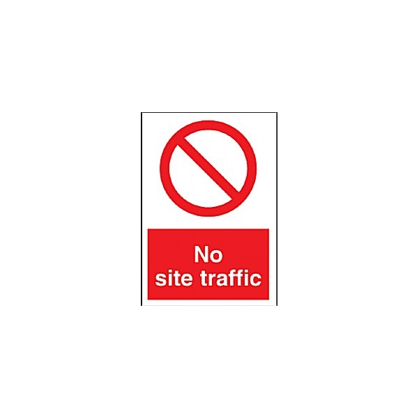 No Site Traffic Sign