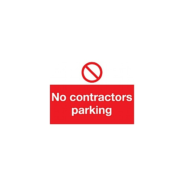 No Contractors Parking Sign