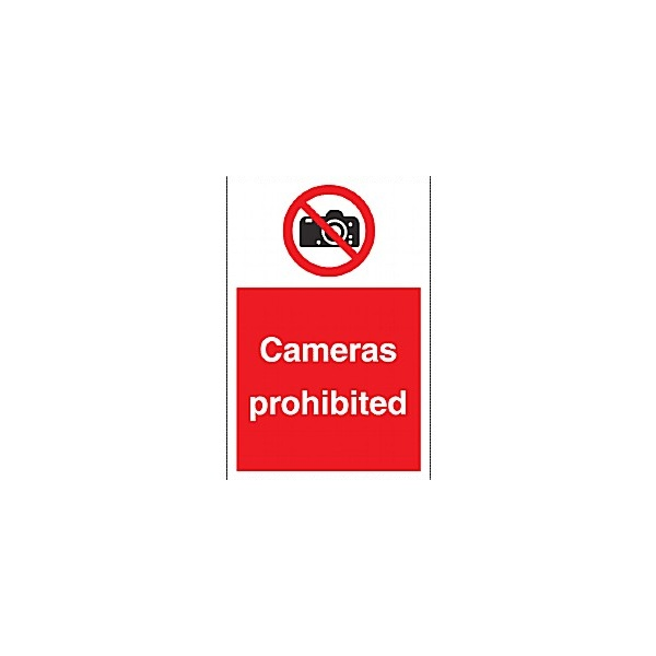 Cameras Prohibited Sign