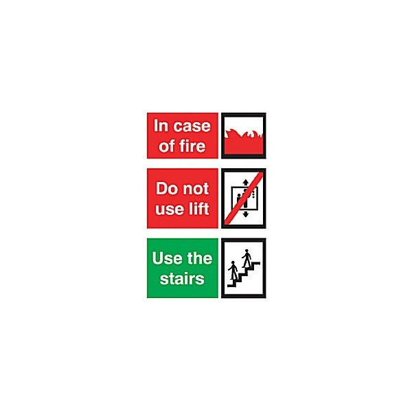 Incase Of Fire Do Not Use Lift Use The Stairs Sign