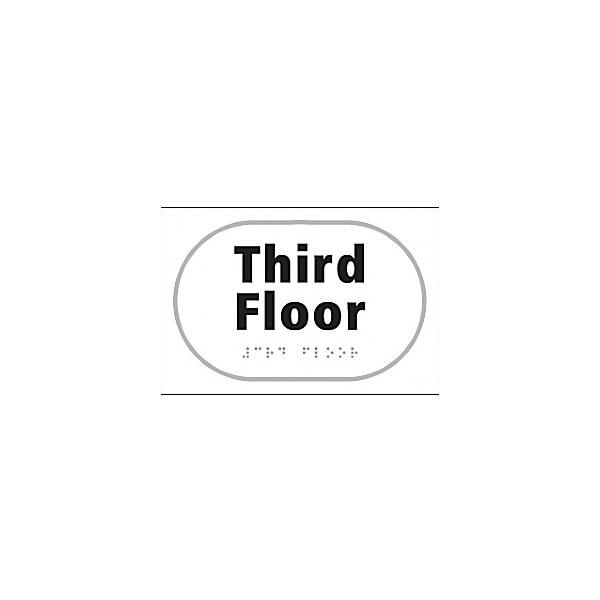 Braille Third Floor Sign