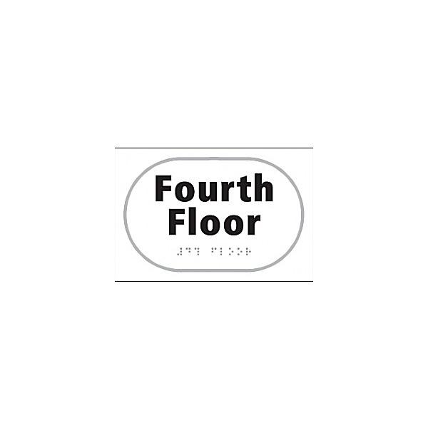 Braille Fourth Floor Sign