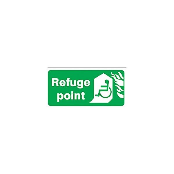 Braille Refuge Point Sign