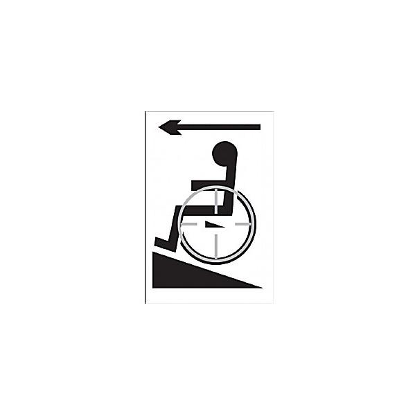 Braille Wheelchair Left Sign