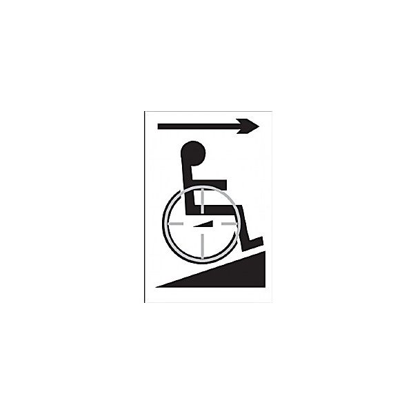 Braille Wheelchair Right Sign