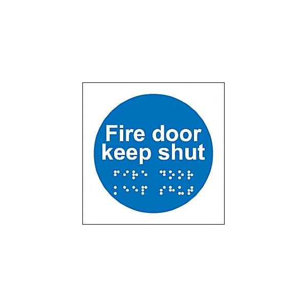 Braille Fire Door Keep Shut Sign