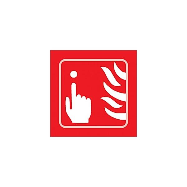 Braille Fire Alarm Button Symbol