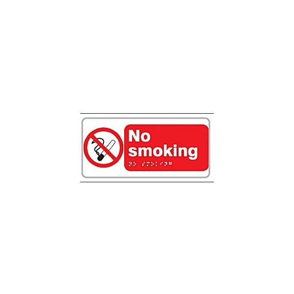 Braille No Smoking Sign
