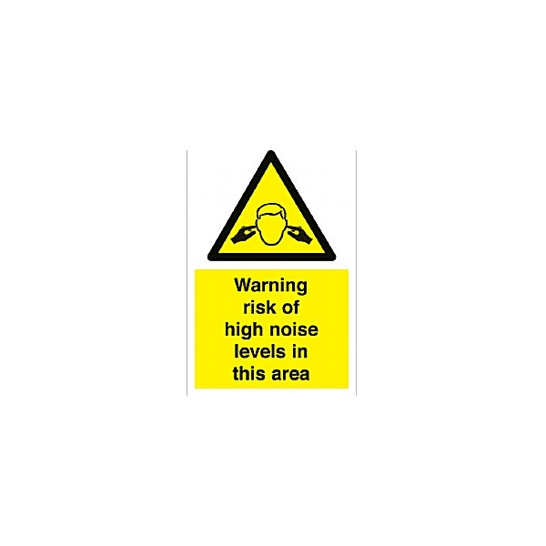 Warning Risk Of High Noise Levels In This Area