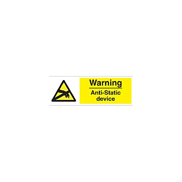 Warning Anti-Static Device Sign