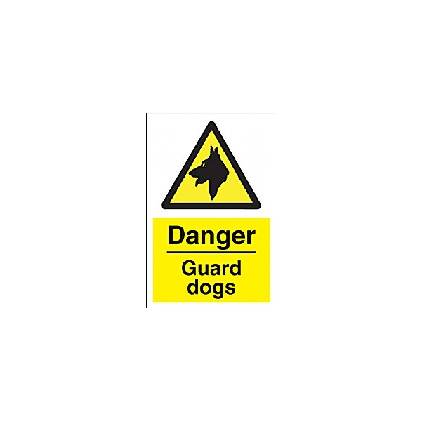 Danger Guard Dogs Sign