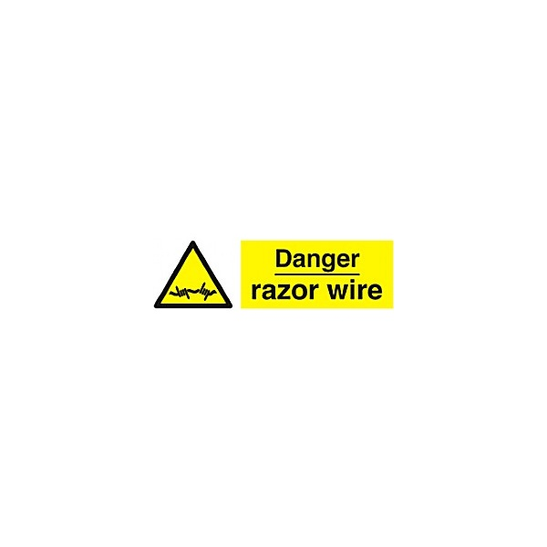 Danger Razor Wire Sign