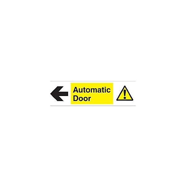Automatic Door Left Arrow Sign