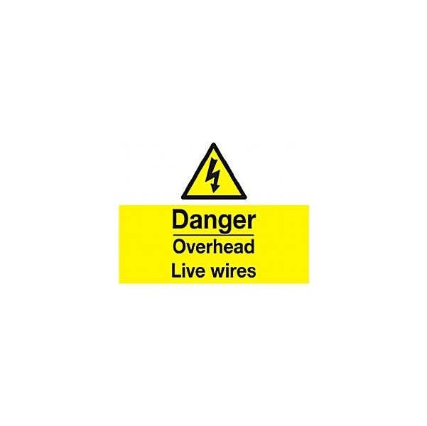 Danger Overhead Live Wires Sign