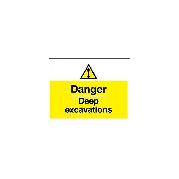 Danger Deep Excavations Sign